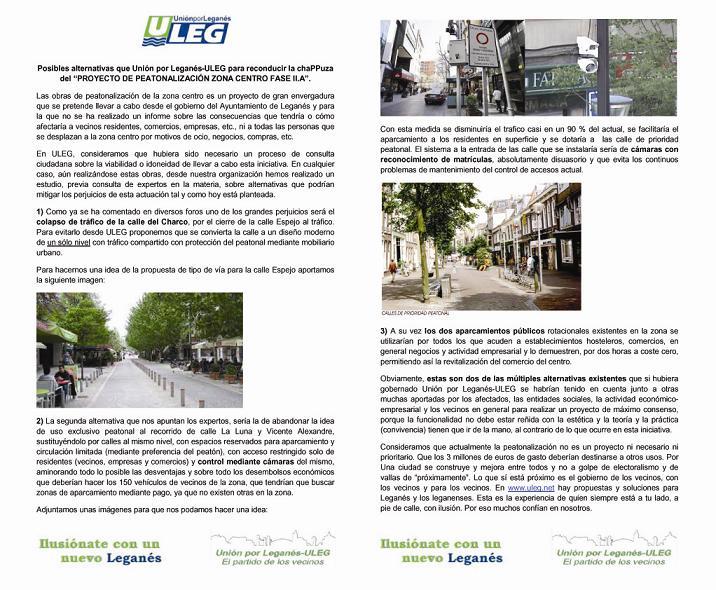 Alternativas a la peatonalizacin de la zona centro