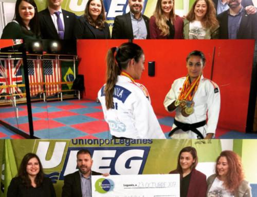 ULEG apoya y promociona a Saray Padilla, leganense fortunera y campeona de España de Judo