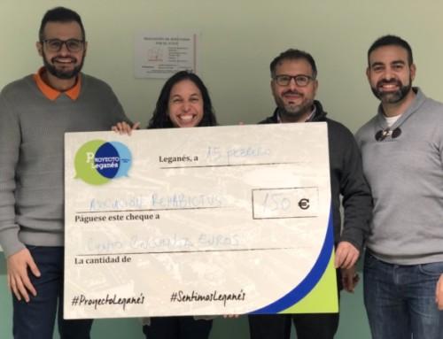 ULEG realiza una ayuda económica a la Asociación de Afectados por el Ictus de Leganés ('Rehabictus')