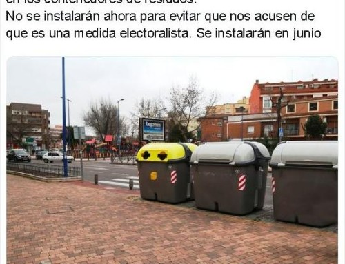 ULEG pide la dimisión del alcalde por incumplir con la promesa electoral de poner en junio los pedales a los contenedores de basura
