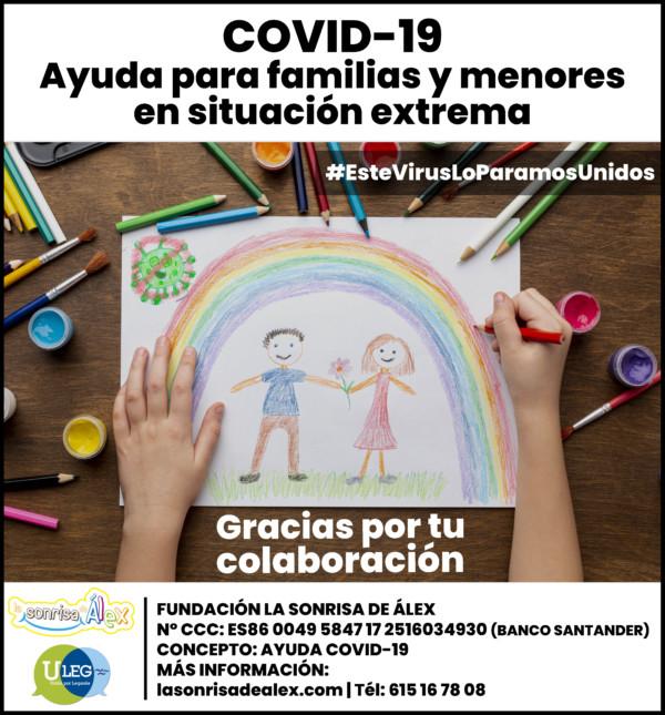 Recaudación de fondos para las familias de Leganés afectadas por la crisis del COVID-19