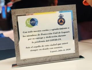COVID-19: ULEG homenajea a Protección Civil de Leganés