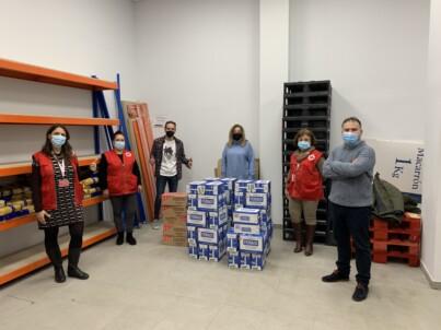 ULEG y la Fundación la Sonrisa de Álex donan alimentos a Cruz Roja Leganés