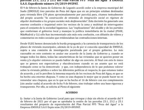 """Polémica en Poza del Agua y las nuevas viviendas """"sociales""""."""